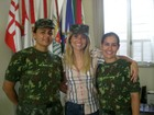 Glória Perez posta foto de Flávia Alessandra com duas tenentes