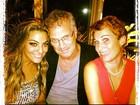 No Twitter, ex-BBB Monique posta foto com Bial: 'Admiração infinita!'
