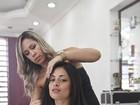 Bailarina do 'Faustão' se prepara em SPA para posar nua