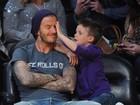 David Beckham se diverte com a 'bagunça' do filho Cruz