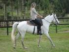 Ellen Jabour posta foto andando a cavalo