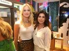 Fiorella Mattheis e Fernanda Paes Leme prestigiam inauguração de loja