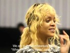 Rihanna aparece sem maquiagem em bastidores de videoclipe