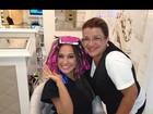Trato no visual! Após ir ao dentista, Mayra Cardi posta foto no cabeleireiro