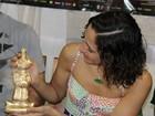Camila Pitanga ganha prêmio em entrevista coletiva, no Pará