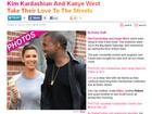 É namoro? Kim Kardashian e Kanye West passeiam em Nova York