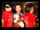 Antonelli e Glória Maria homenageiam São Jorge com camiseta
