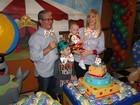 Alessandra Scatena faz festa de um ano para o filho Estéfano