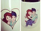 Mariana Rios posta foto de caneca personalizada: 'Eu e Di'