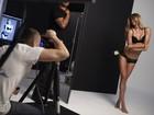 Veja fotos de Gisele Bündchen no making of de campanha de lingerie