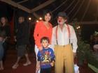 Hoje tem marmelada! Vanessa Giácomo leva filhos ao circo no Rio