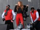 Toda encasacada, Mariah Carey se apresenta na Áustria