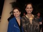 Debora Bloch e Camila Pitanga vão a show de Adriana Calcanhoto no Rio
