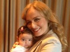 Grávida, Angélica treina com bebê no colo