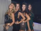 Com roupas justas, dançarinas do Faustão curtem boate no Rio