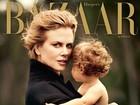 Nicole Kidman posa com a filha mais nova para capa de revista