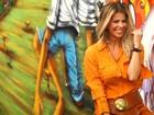 De volta à TV, Karina Bacchi dribla perguntas sobre sua vida pessoal