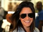 Após boatos sobre affairs, Fernanda Vasconcellos aparece sorridente