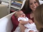 Mariana Belém posa com a filha foférrima