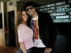 Ex-BBB Laisa participa da gravação de clipe do Latino