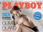 Modelo romena repete pose de Aryane Steinkopf na capa da 'Playboy'