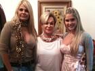 Três gerações: Monique Evans posta foto com a filha e a mãe
