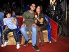Miguel Rômulo e Pérola Faria namoram no circo