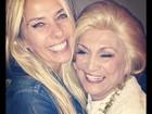 Adriane Galisteu tieta Hebe: 'Mestra querida'