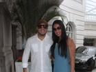 Gracyanne Barbosa se arruma em um hotel do Rio para o seu casamento com Belo