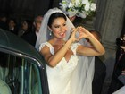 Gracyanne Barbosa chega à igreja para seu casamento com Belo