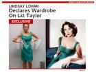 Lindsay Lohan faz prova de figurino para filme sobre Elizabeth Taylor