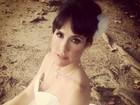 Fernanda Pontes posa para revista de noivas: 'Lembrei do dia em que casei'