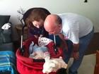 Piovani posta foto de Dom com os avós: 'Vova e Vovu estão doidos'