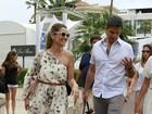Flávia Alessandra e Otaviano Costa passeiam em Cannes