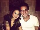 Rafael Almeida comemora aniversário em jantar romântico com Alinne Rosa