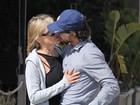 Moreno na praia com Sharon Stone é o mesmo que ela conheceu no Brasil
