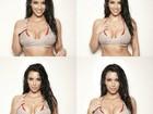Kim Kardashian posta foto em que aparece de top: 'Molhada e selvagem'