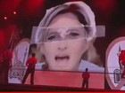 Madonna coloca sustica na testa de lder poltica francesa durante show