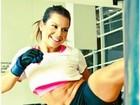 Fernanda Souza posta no Twitter foto em que aparece lutando