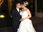Dani Souza e Dentinho se casam em São Paulo