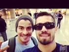 De corte de cabelo novo, ex-BBB Yuri publica foto ao lado de Thiago Martins