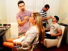 Veja o que rolou nos bastidores do Paparazzo dos ex-BBBs Adriana e Rodrigão