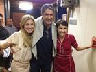 Depois de visita a Fátima Bernardes, Bonner tieta elenco de 'Av. Brasil'