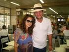 Nanda Costa e Rodrigo Lombardi embarcam para a Turquia