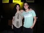 Casal de atores que se formou em 'Malhação' curte festa no Rio