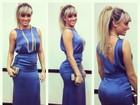 Juju Salimeni usa vestido longo, mas ressalta o popozão