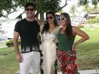 Susana Vieira leva o namorado, Sandro Pedroso, para festival do boi