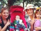 Luana Piovani leva o filho a festa junina no Rio