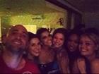 Mariana Rios comemora aniversário com amigos famosos