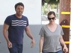 Ben Affleck aparece sem barba em passeio com Jennifer Garner